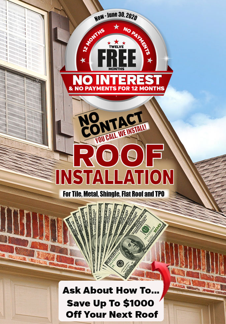 Call SCM Roofing today to learn how you can save up to $1000 off your next roof. And be sure to ask about our 12 months, no payments finance program. We look forward to speaking with you. Thank you for checking us out.