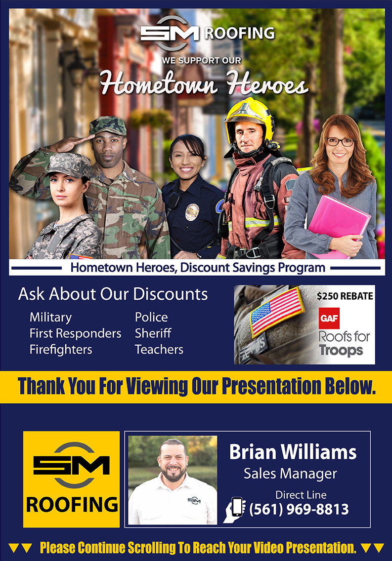 We celebrate our hometown heroes with great pricing and discounts. Call for more details if you're a first responder, firefighter, police/law enforcement officer, military member or school teacher. We look forward to serving you and we thank you for serving us.